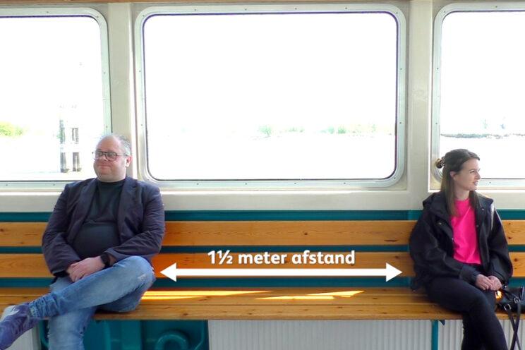 Reizigers zitten 1,5 m uit elkaar
